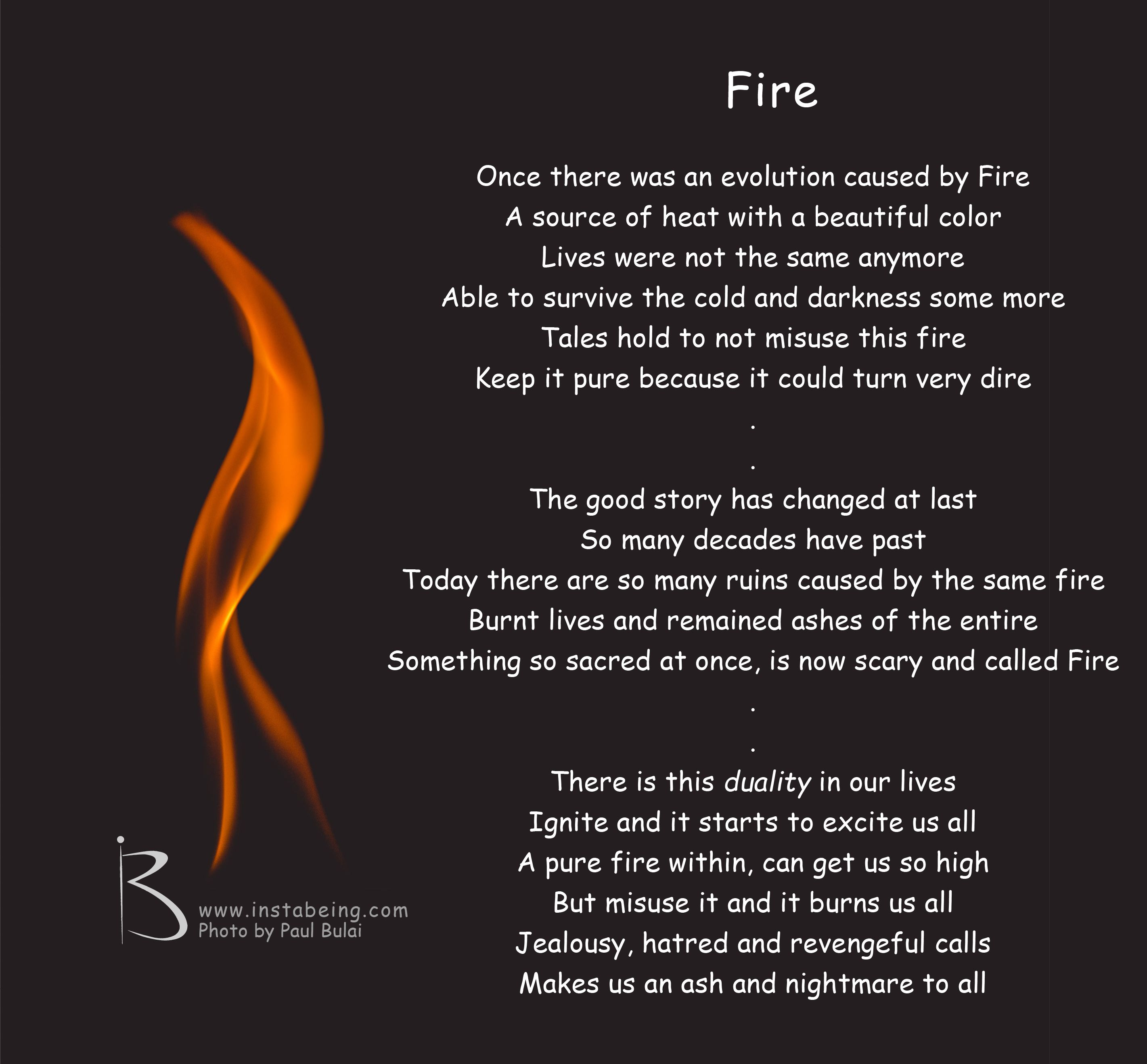 Fire With Images Fire Poem Sources Of Heat Fire