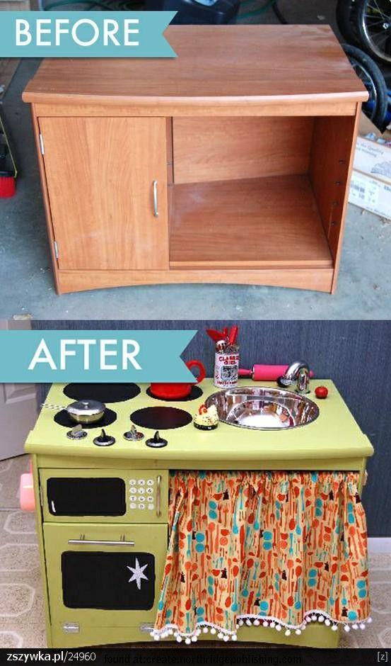 Pieluszkomania Hand Made Kuchnia Zabawka Nasz Pomysl Na Prezent Gwiazdkowy Dla Dzieci Kids Kitchen Diy For Kids Crafts For Kids