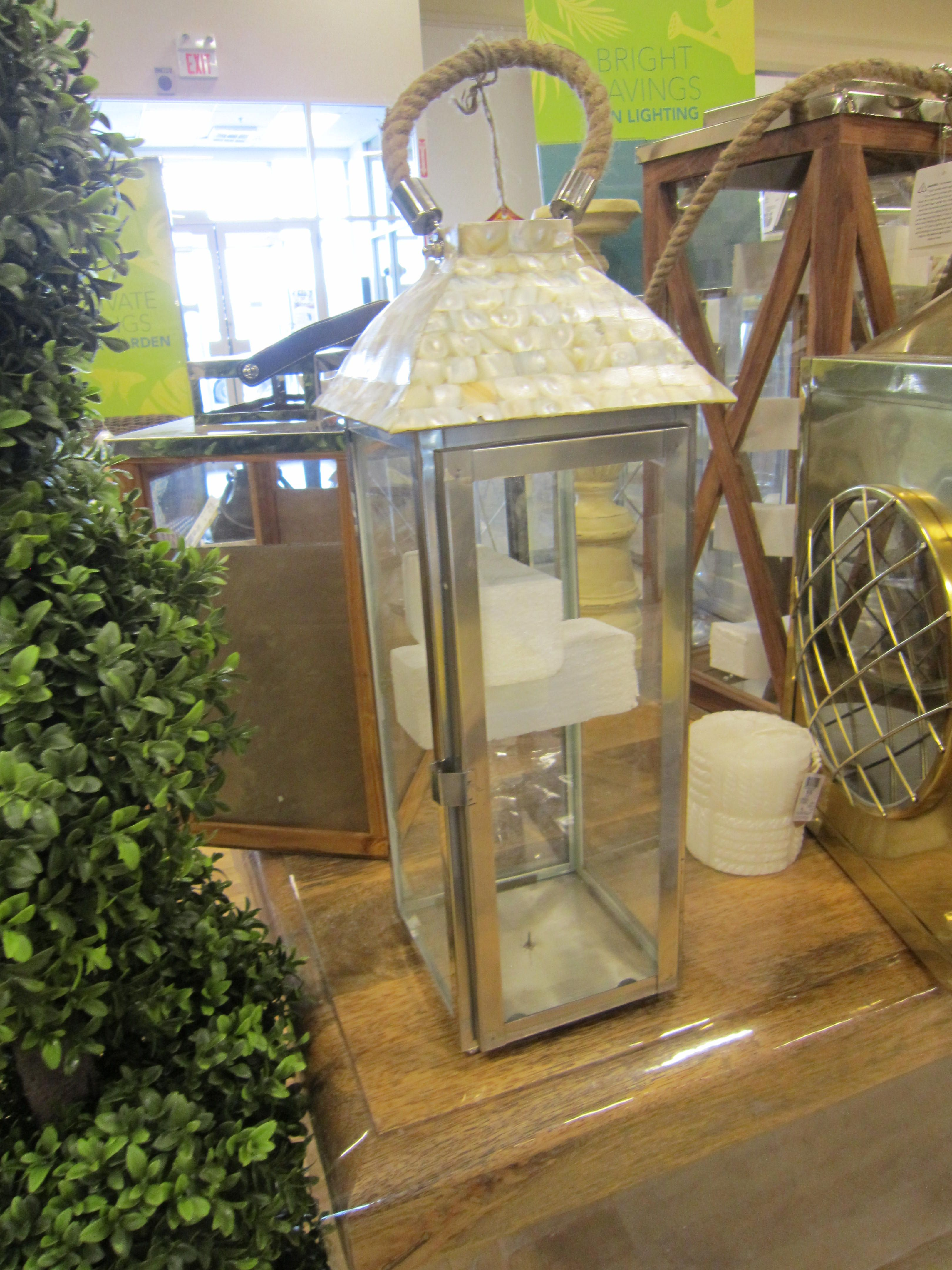 Homesense Mother Of Pearl Amp Rope Lantern Rope Lantern