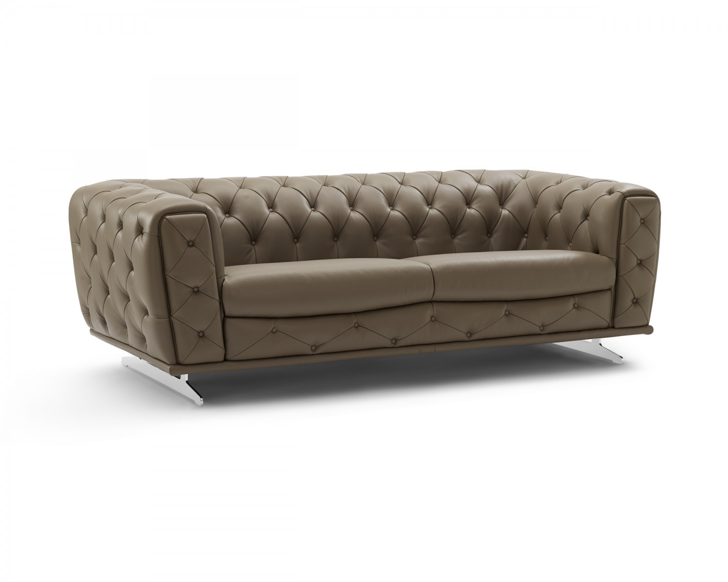 Ellie Contemporary Design Sofa In Clove Leather By Creative