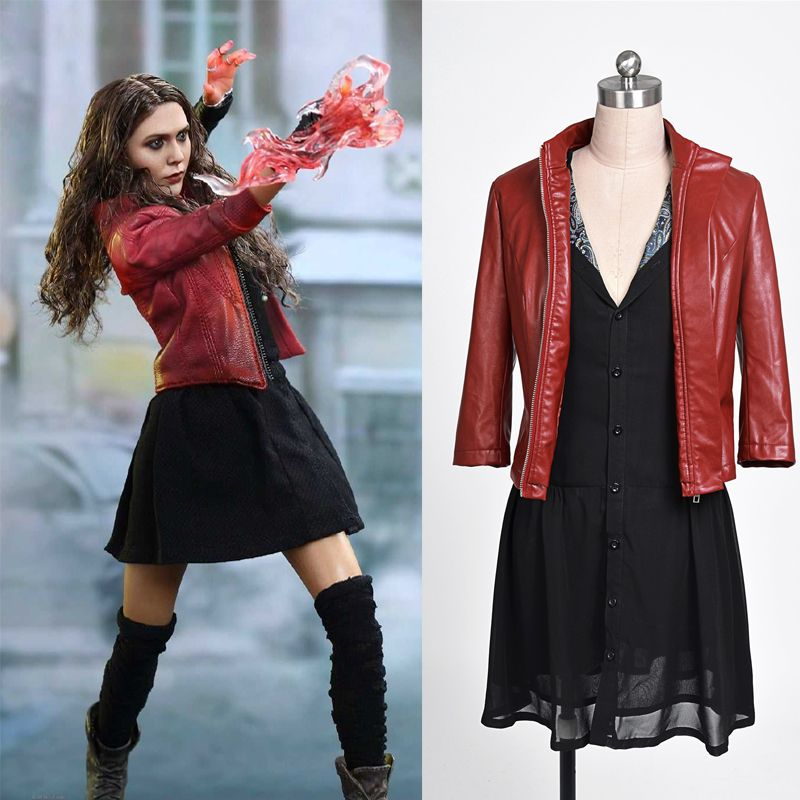 dbe7f9fbbd0e35 New 2016 The Avengers Scarlet Witch Wanda Maximoff Cosplay Costume  Superhero Scarlet Witch Costume Halloween Costume