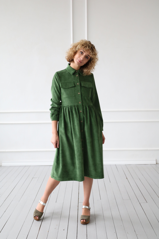 Corduroy Dress Cotton Dress Needlecord Shirt Dress In Forest Etsy In 2021 Shirt Dress Cotton Dresses Corduroy Dress [ 6000 x 4000 Pixel ]