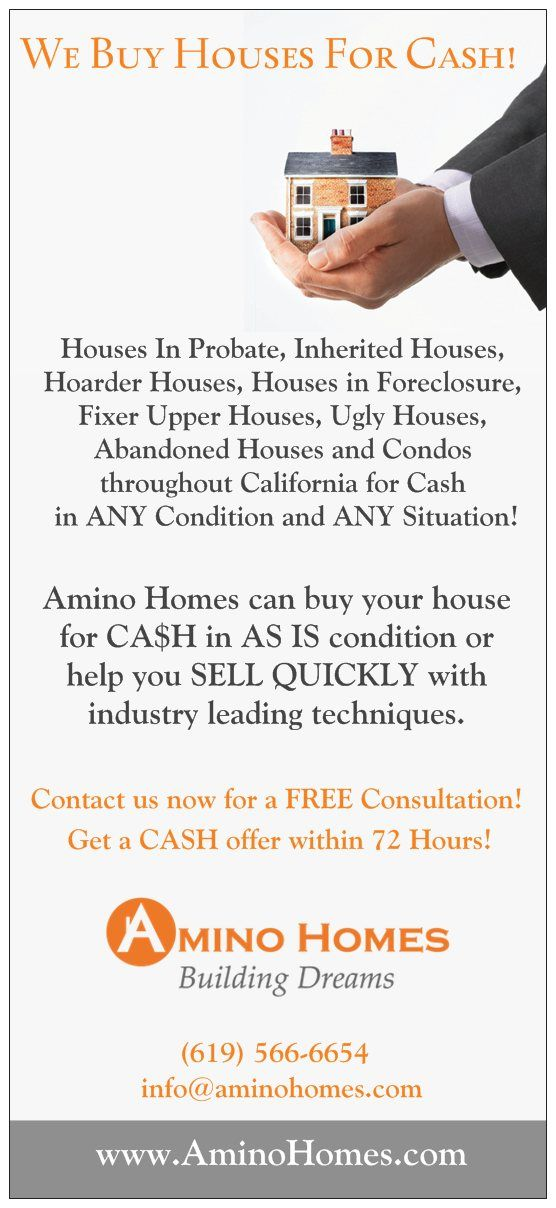 Rack cards for use in investor packets, door knocking kits & more, created for Amino Homes.