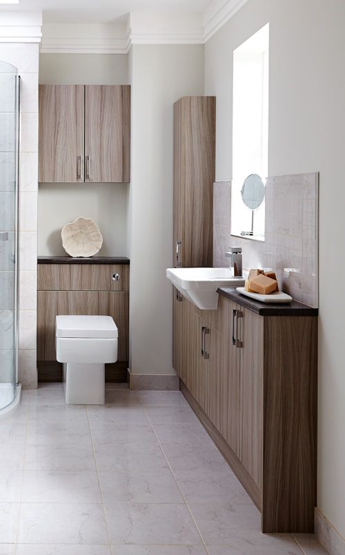 Small Bathroom Slimline Furniture And Clean Paint Job