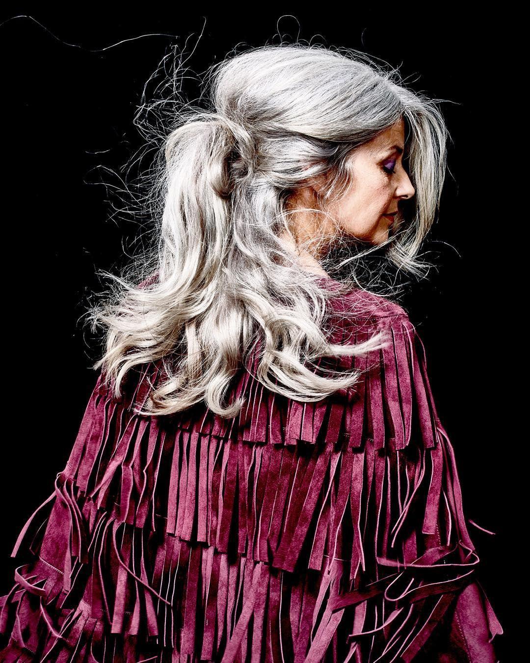 Salt and pepper gray hair grey hair silver hair white hair