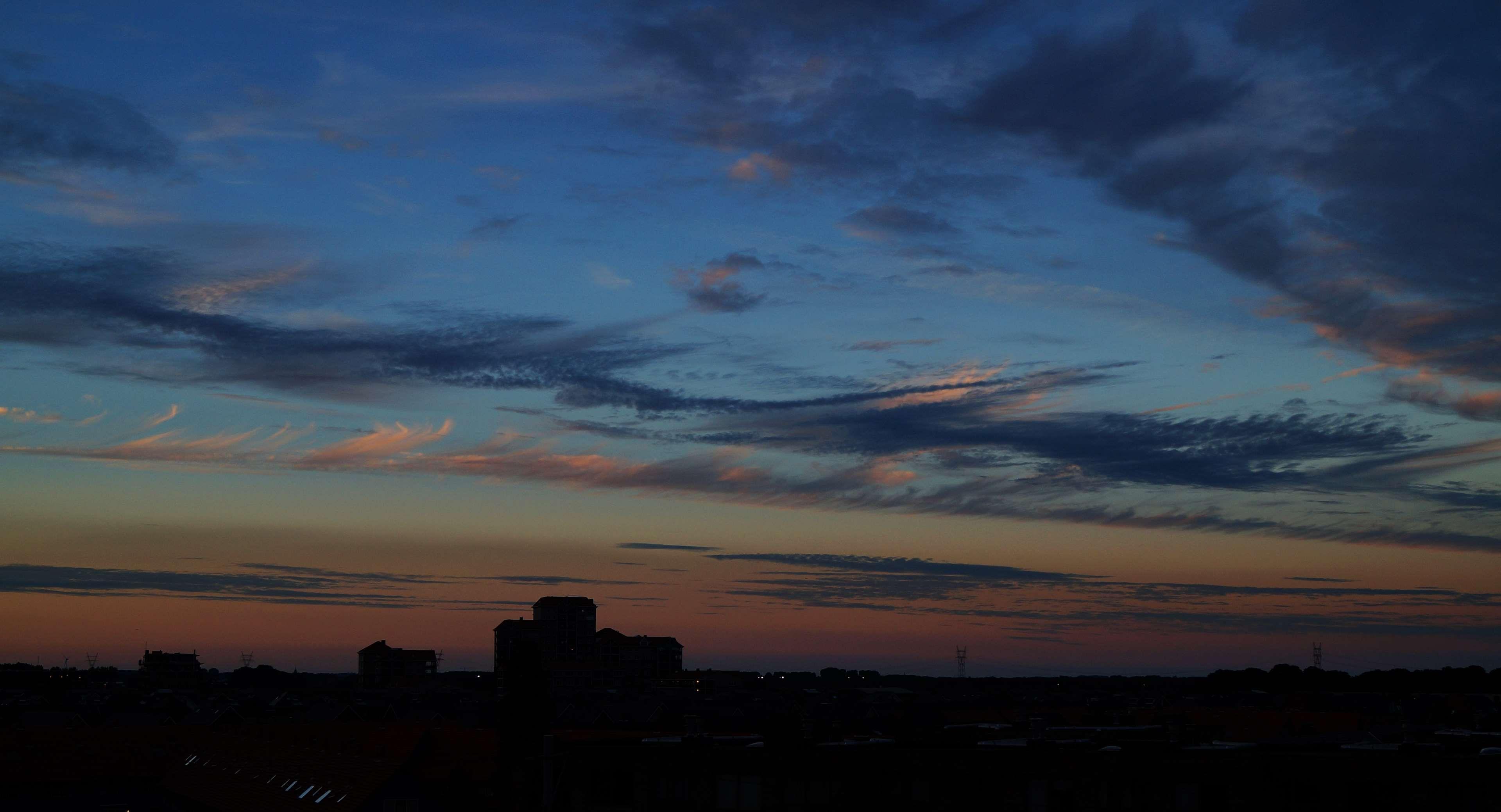 Clouds Dark Dawn Evening Landscape Nature Night Outdoors Scenic Silhouette Sky Sunset 4k Wallpaper