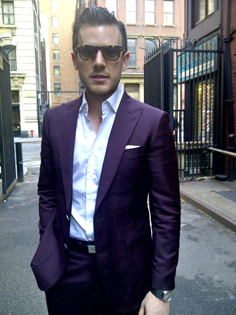 Love the color! Men don't have to only wear black & charcoal. ~sdh ...