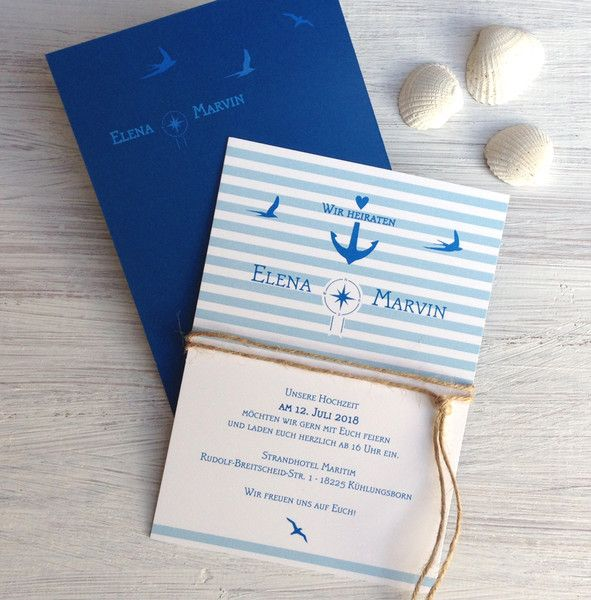 Hochzeitskarten Hochzeitseinladung Maritim Ein Designerstuck