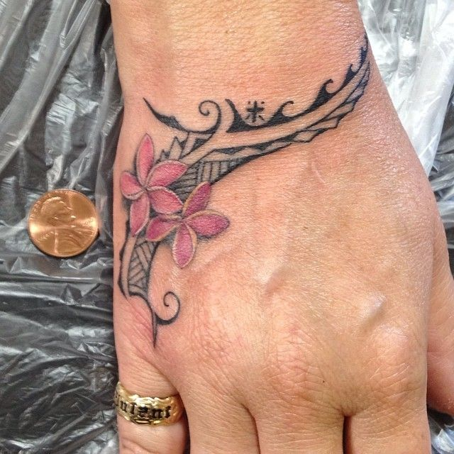 Plumeria Tribal Tattoo I Think This Is My Next Tattoo border=