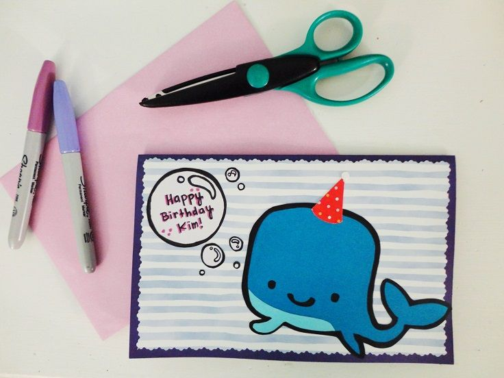 37 Homemade Birthday Card Ideas and Images – Birthday Card Drawing Ideas