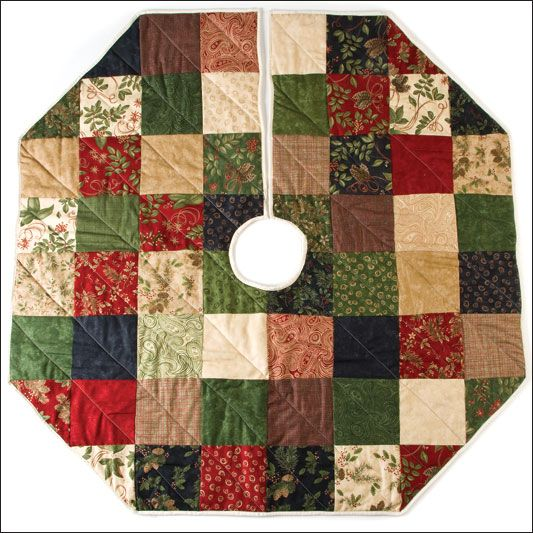 Quilted Christmas Tree Skirt Patterns: Copribase Dell'albero Di Natale...