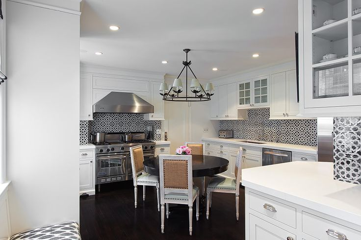 Black And White Mosaic Tiles   Transitional   Kitchen   Lilly Bunn Interior