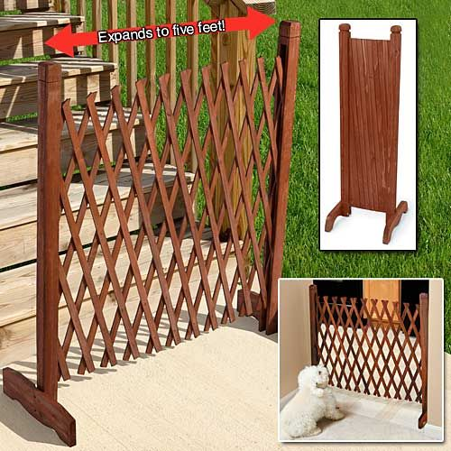 Portable Expanding Fence Is Useful As A Divider Privacy Screen Trellis And More Sturdy Solid Wood Decorative Fence Wi Diy Dog Gate Portable Fence Dog Gate