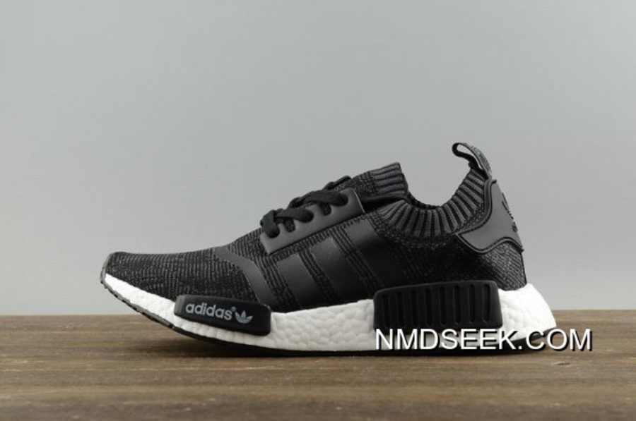 "d335353180d15 Adidas NMD R1 ""Winter Wool"" Core Black-Footwear White Sneakers BB0679 Top  Deals"