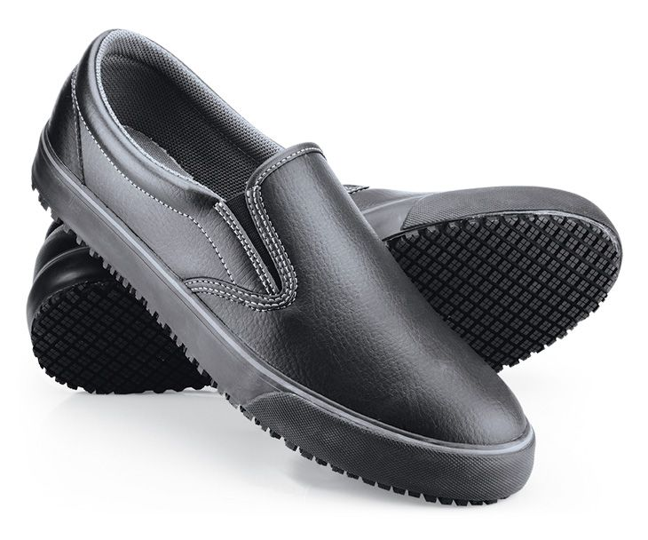 Ollie  Black  Womens  Slip On Non Skid Shoes  Canada