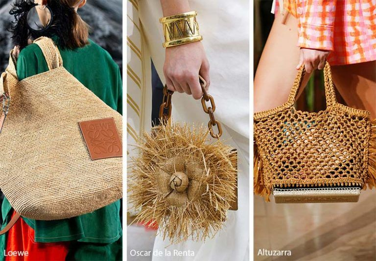 4b4e082dc945 Spring  Summer 2019 Handbag Trends  Tan Straw Bags