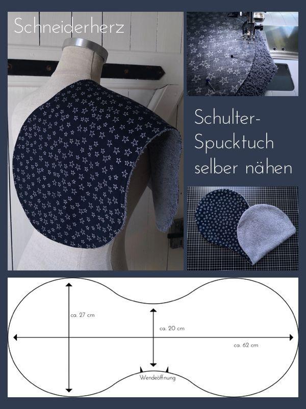 schulter spucktuch selber n hen schneiderherz baby. Black Bedroom Furniture Sets. Home Design Ideas