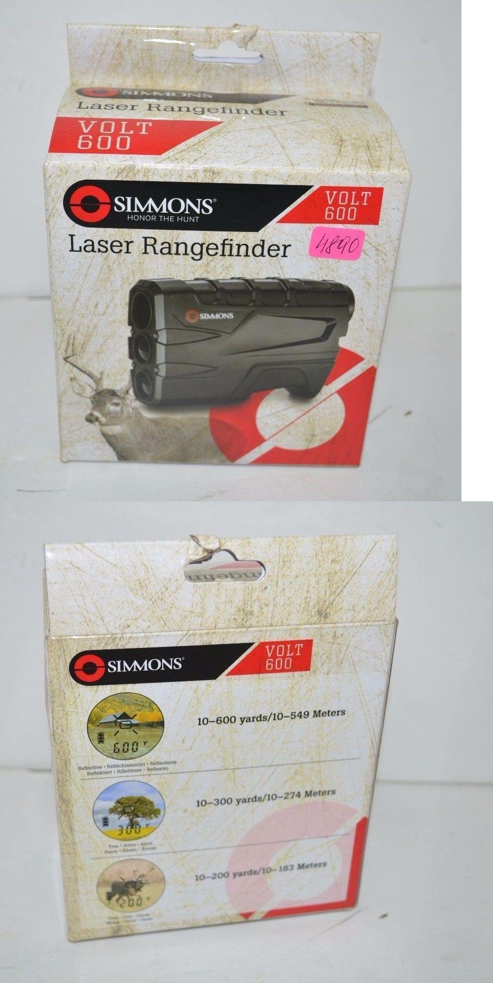 simmons vertical volt 600. range finders 31712: simmons 801600 volt 600 vertical laser finder, black -new 0