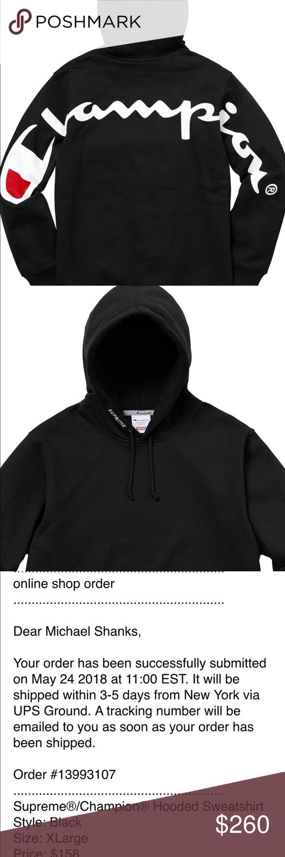 New Supreme Championhooded Sweatshirt Order Confirmed New Sold Out Supreme Champion Hooded Sweatshirt Sweatshirts Supreme Sweater Champion Hooded Sweatshirt [ 1740 x 580 Pixel ]