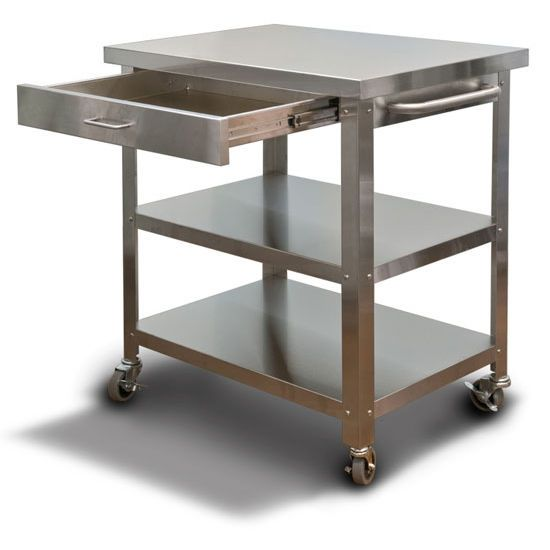 Kitchen Island With Wheels Stainless Steel Roselawnlutheran Carts On Utility Cart Apartment