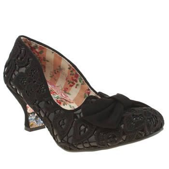 Black Irregular Choice Black Fancy That Patent Low Heels
