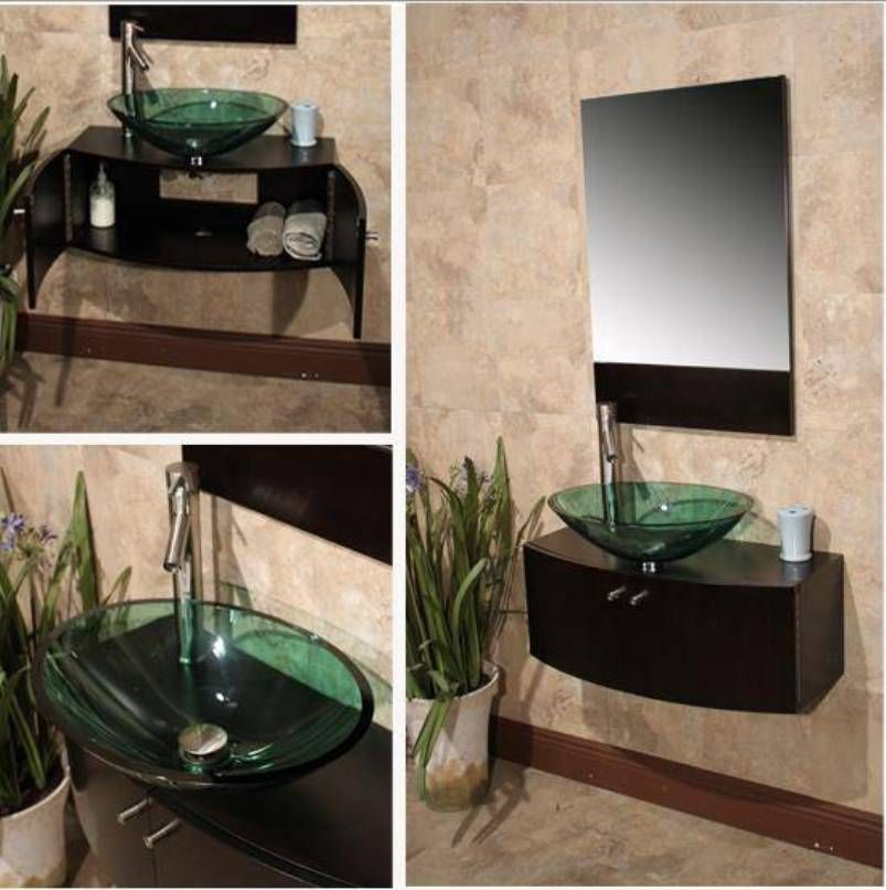 Bathroom Vanity With Glass Bowl Sink Bathroom Vanities ...