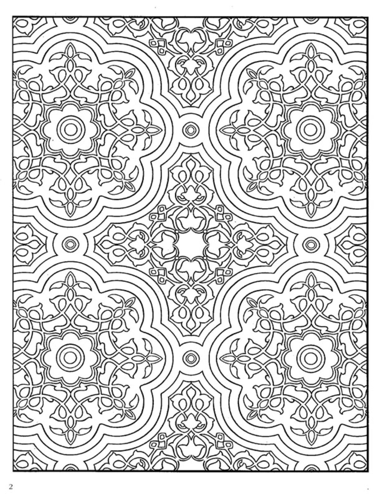to pretend some azulejos in house Dover Decorative Tile Coloring ...