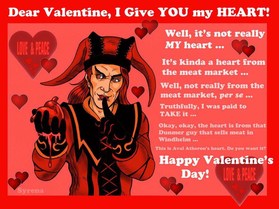 40 best images about Valentines cards – Skyrim Valentines Card