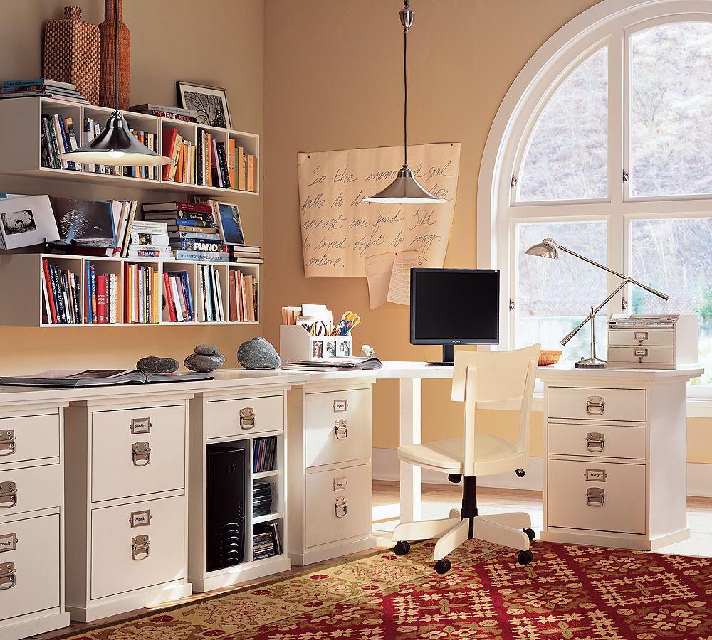 Looooooove This Home Office Setup. Some Day :