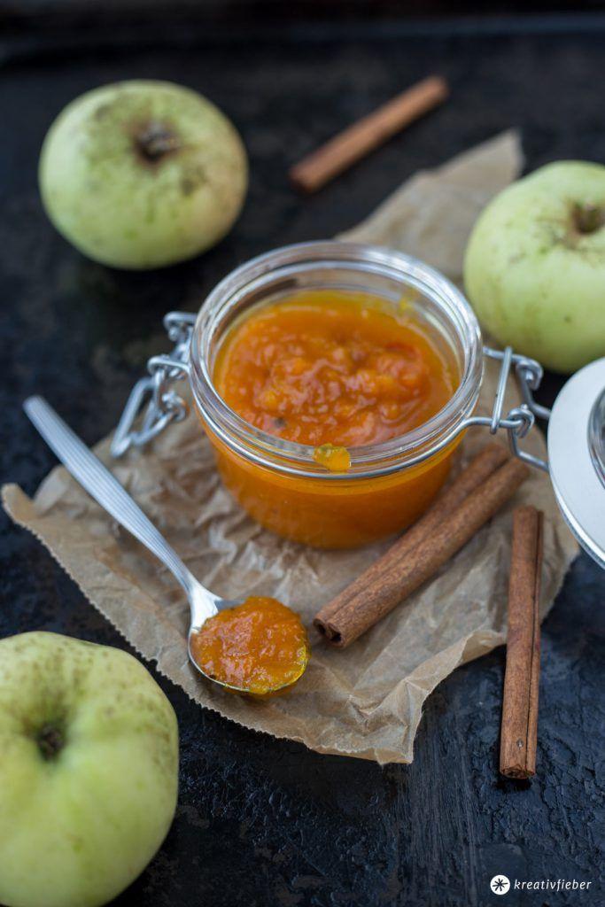 Kürbismarmelade mit Apfel und Ingwer - Geschenke aus der Küche - kleine geschenke aus der küche