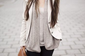 ~ What To Wear: Baby, It's Cold Outside ~ Layer tanks, sweaters, and blazers - via wanderwithstyle.com