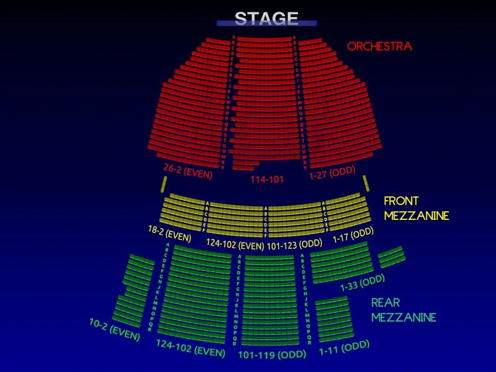 Broadway Theatre Broadway Seating Chart Musical Cinderella ...