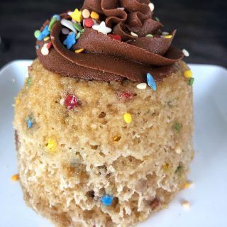 Birthday Cake Mug Cake | Recipe | Cake batter protein ...