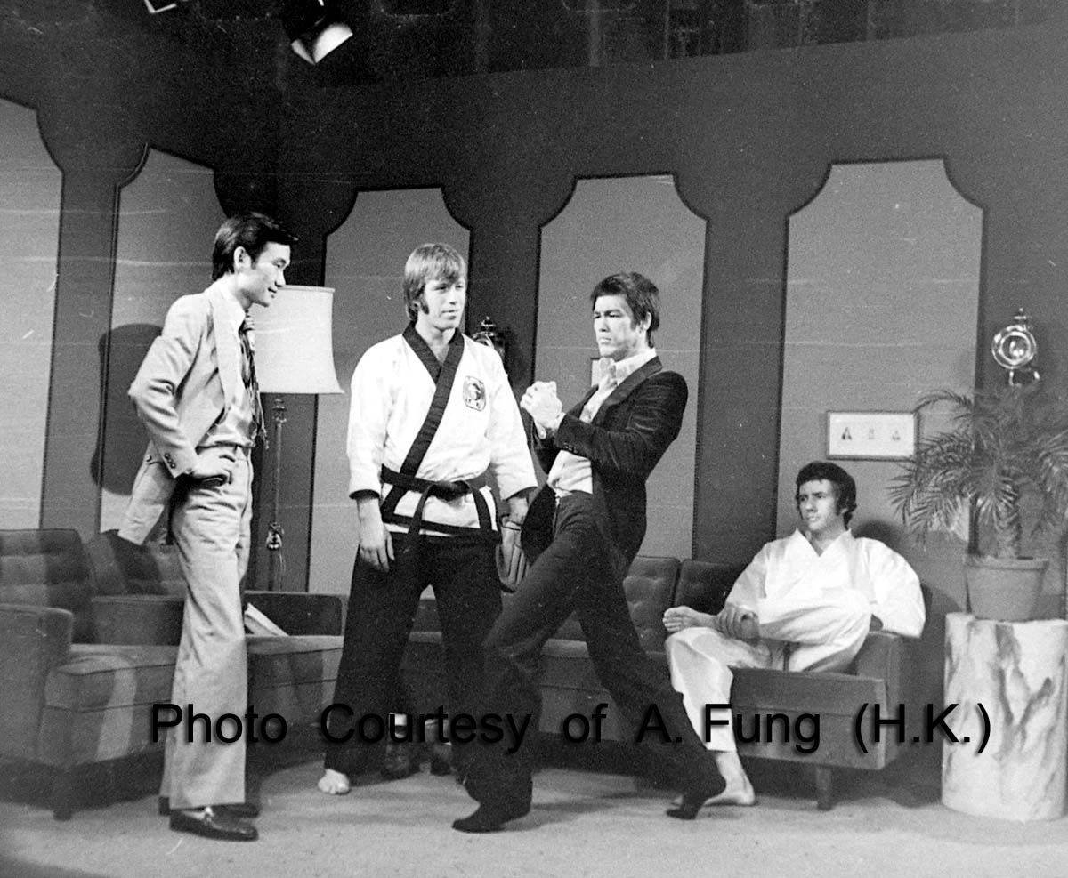 Bruce, Chuck Norris & Bob Wall on Hong Kong tv