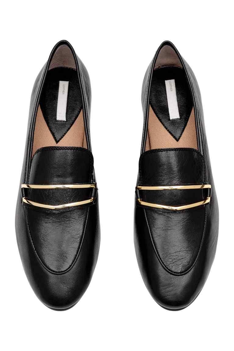 b7825dc7c42 Loafer aus Leder - Schwarz - DAMEN