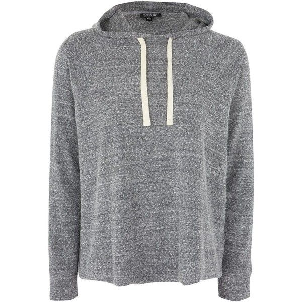 Topshop Boiled Slouchy Hoodie ($33) ❤ liked on Polyvore featuring ...