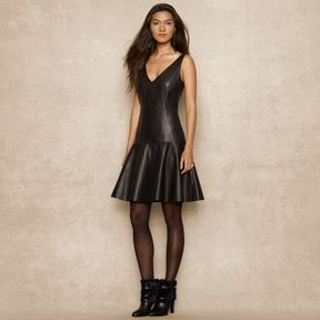 Ralph Lauren Blue Label Sleeveless Leather Dress On Style