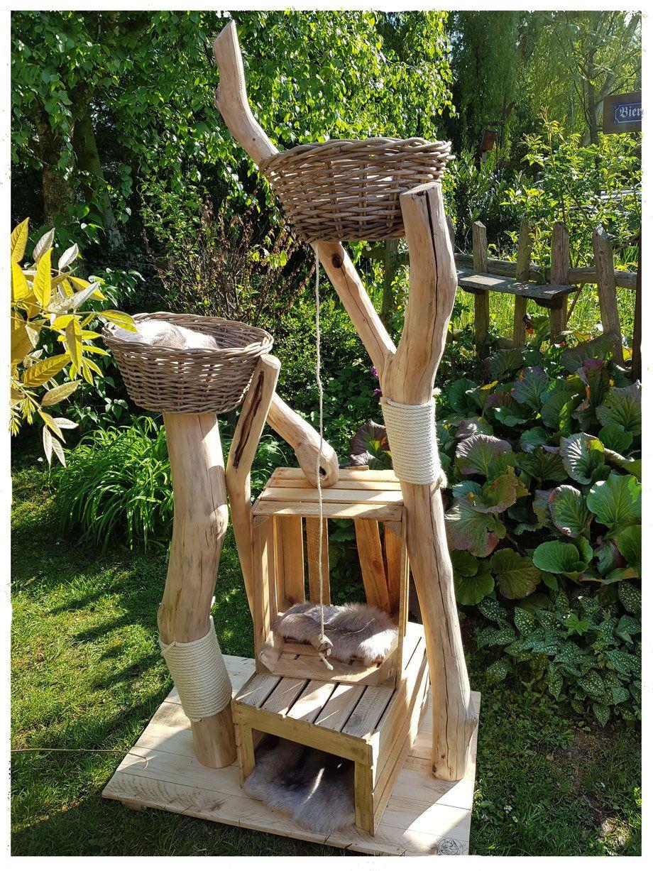 Photo of Diseños especiales, su rascador, también para grandes felinos: árboles de madera natural …