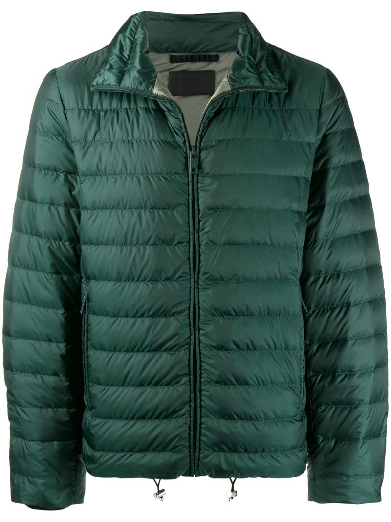Prada Jackets Prada Feather Down Zipped Jacket Green Prada Jackets Jackets Green Jacket Tailored Design [ 1067 x 800 Pixel ]
