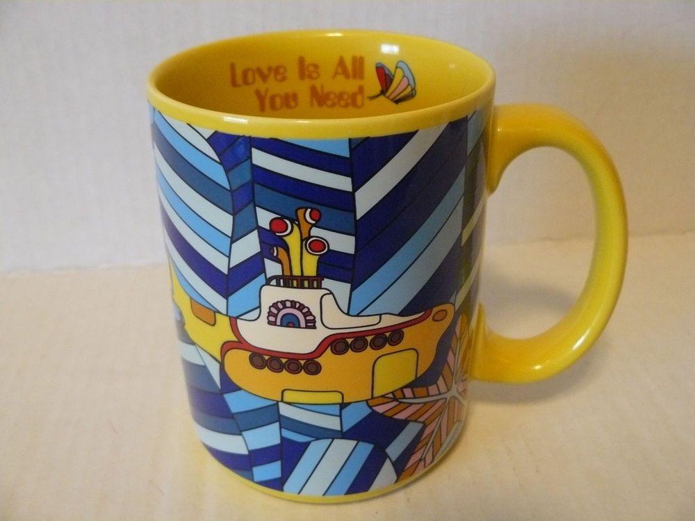 The Beatles Yellow Submarine Coffee Cup Mug Love Is All