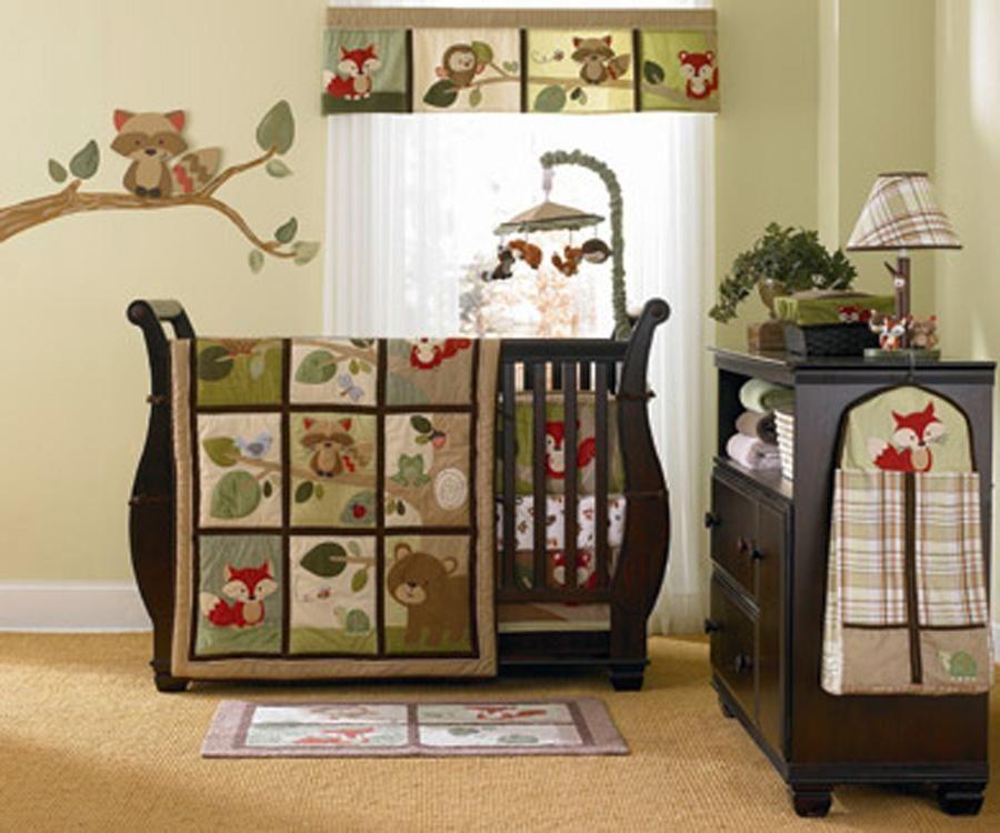 Woodland Nursery Bedding Tree Tops 4 Piece Crib Set By Kidsline