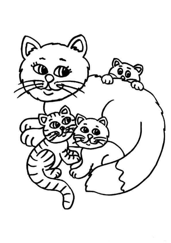 ausmalbilder katzen 07  ausmalbilder katzen malvorlagen