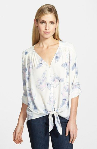 11a3e681da0 Free shipping and returns on Ro & De Tie Front Blouse at Nordstrom.com