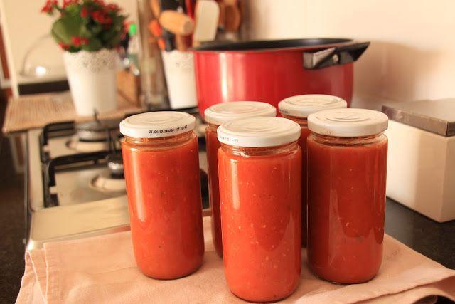 A economia cá de casa: Pasteurização Caseira - Molho de Tomate