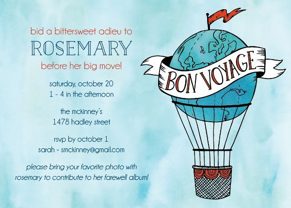 Hot Air Balloon Party Invitation | Paper Source