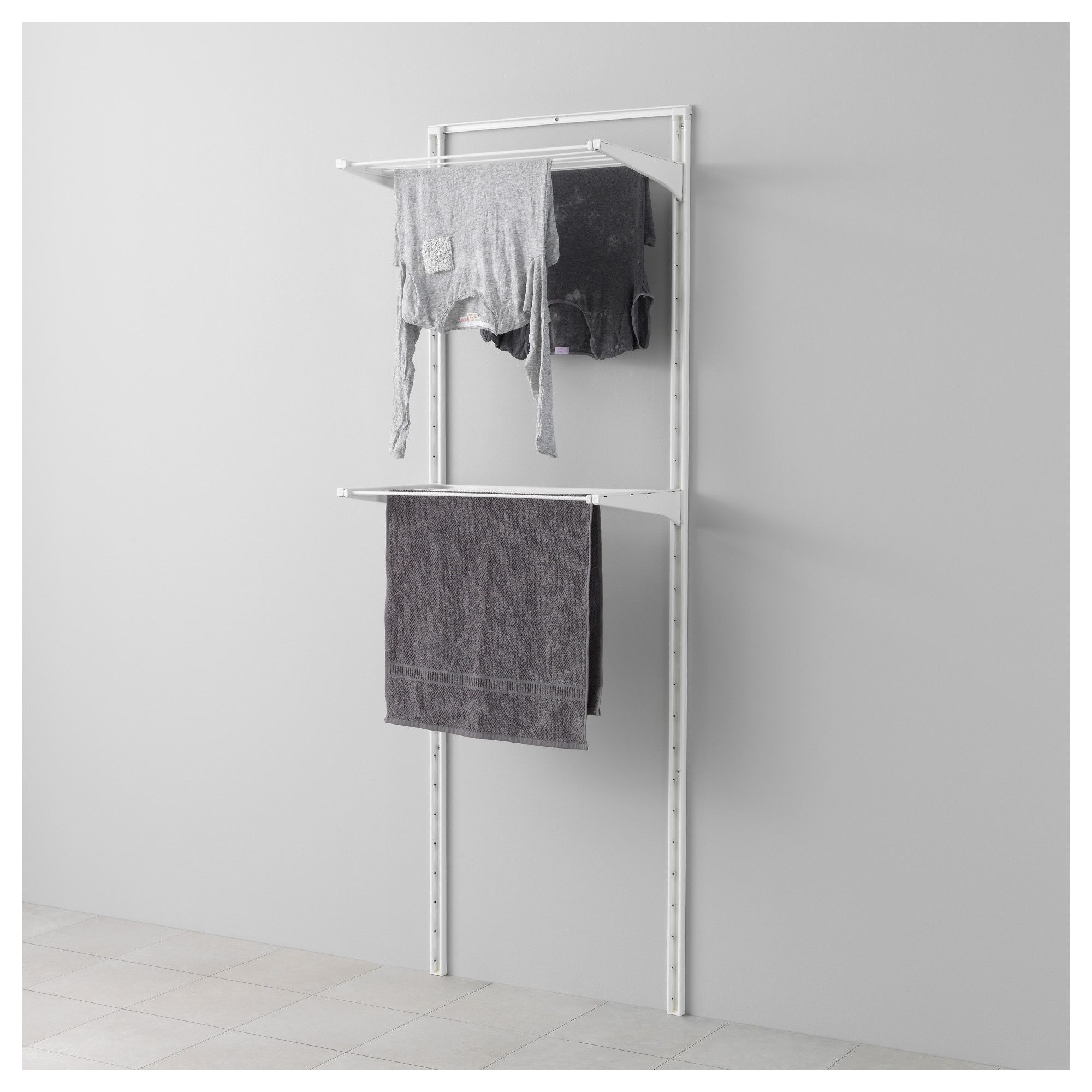 Algot Wall Upright Drying Rack White 26x16 1 8x77 1 2 With