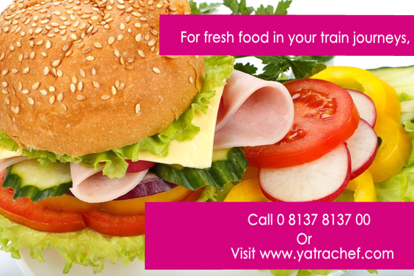 For fresh food in your train journeys, call 0 8137 8137 00