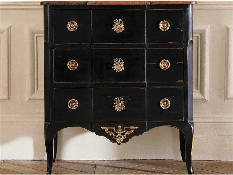vintage black nightstand with golden details the perfect furniture piece for cozy master bedroom interiors - Roche Bobois Bedroom Furniture