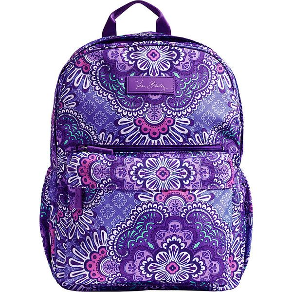 Vera Bradley Lighten Up Just Right Backpack 70 Liked On Polyvore Featuring Bags Backpacks Purple