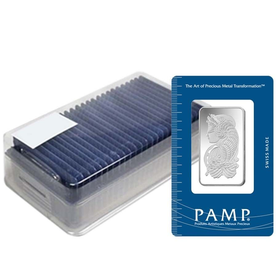 Box Of 25 1 2 Oz Pamp Suisse Fortuna Silver Bar In Assay Silver Bars Gold Bar Fortuna